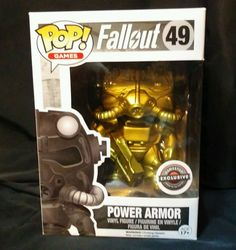 Black Friday 2015 Funko Pop GOLD POWER ARMOR Gamestop exclusive Fallout 49 Chase