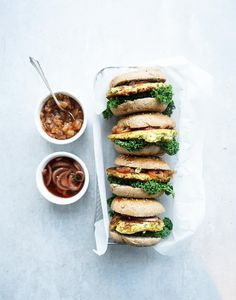 Zucchini & Almond Burger with Pear Chutney | About That Food