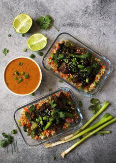 7. Meal-Prep Vietnamese Beef and Riced Veggies #greatist https://greatist.com/eat/easy-meal-prep-ideas-in-30-minutes-or-less