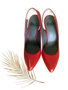 Dolce & Gabbana Red Leather Block Heels Shoes Block Heel Shoes, Fashion Deals, Designer Heels, Designing Women, Red Leather, Footwear, Luxury, Stuff To Buy, Shopping