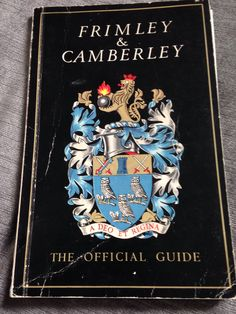 Frimley & Camberley guide c1967 Surrey, Childhood, Memories, Cover, Books, Art, Memoirs, Art Background, Infancy