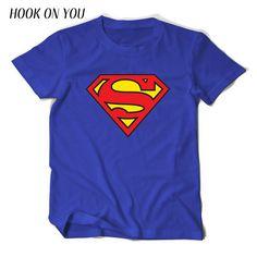 Comic LOGO Super Hero T Shirt Superman Batman Captain America the Flash Marvel Movie Men Cosplay. Click visit to buy #T-Shirts