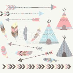 Tribal Tee pee Tents Collections royalty-free stock vector art