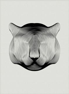 Animali in Moiré, Andrea Minini