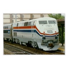 Amtrak Locomotive P-42 # 78 in Wilmington Delaware Poster -  Built by General Electric in 1997. It could run 110 MPH ,and had 4250 Horsepower.
