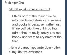 I second that. This is the most accurate description of my life that I've ever seen.