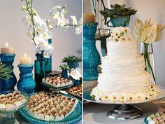 Bolo e mesa de doces casamento festa (Foto: Studio Job)