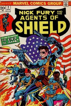 Nick Fury and His Agents OF SHIELD #2, cover by Jim Steranko