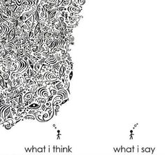 What I says What I am thinking!