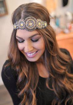 Dottie Couture Boutique - Boho Beaded Headband- Black, $16.00 (http://www.dottiecouture.com/boho-beaded-headband-black/)