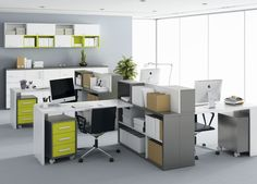 Modern open plan office #openplanoffice