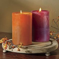 In your choice of 2 scrumptious fall scents, each candle burns down in a spiral to form its own unique shape. Fall Scents, Paraffin Wax, Burning Candle, Pillar Candles, Spiral, Family Room, Montgomery Ward, Shapes, Family Rooms