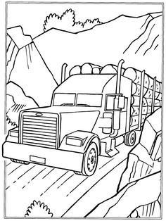 Monster Truck Very Large coloring page for kids
