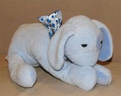 2004 Rich Frog Blue Puppy Dog Polka Dot Bow Plush Stuffed Animal Dreamy Toy #RichFrog