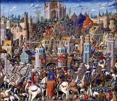 Batalhas Medievais - Manuscrito Século XV.