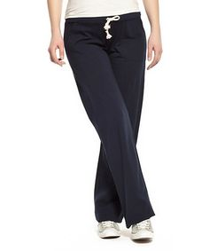 Love this Navy Blue Over-Belly Maternity Lounge Pants - Women on #zulily! #zulilyfinds