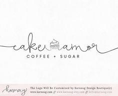 Cupcake Logo|Cake logo|Bakery Logo|Baking Logo|Logos|Boutique Logo|Premade Logo|Watermark Logo|Business Logo|Branding Logo|sweets logo by karnoug on Etsy