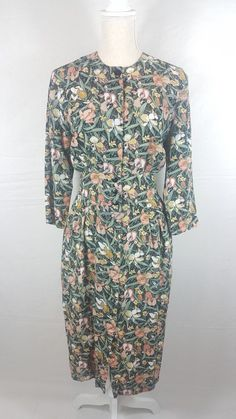 karen Stevens floral sheath dress S small  | Clothing, Shoes & Accessories, Women's Clothing, Dresses | eBay!