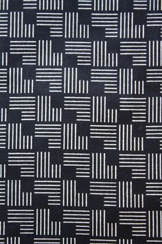 Abstract geometric pattern matchstick stamp- black and white