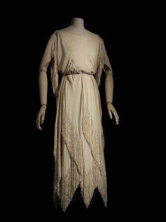 1921 - Madeleine Vionnet Silk Fringed Evening Dress