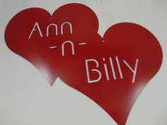 Personalized Metal Heart Cutout  Custom by HazelnutHillbySherri