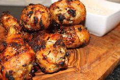 Grillowanie: Pałki z kurczaka (podudzie) cytrynowo-tymiankowe Tandoori Chicken, Grilling, Ethnic Recipes, Food, Eten, Meals, Grill Party, Diet