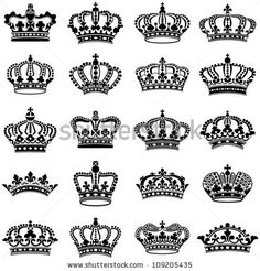 Crown collection - vector silhouette by Hein Nouwens, via Shutterstock