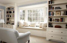 window seat/bookcase