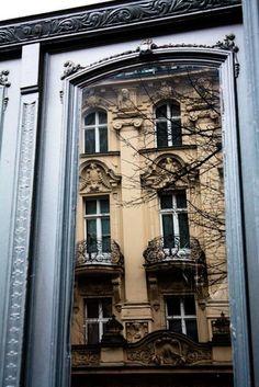 Berlin door reflection Photography 8x10 Fine by rebeccaplotnick, $30.00