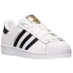 Pre-owned Adidas Superstar Black And White Athletic Shoes (2 630 ZAR) ❤ liked on Polyvore featuring shoes, black and white, leather shoes, real leather shoes, black white shoes, pre owned shoes and adidas shoes