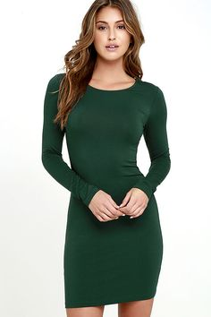 For long days when you need loved ones close by, the Comeback Baby Forest Green Dress couldn't be better. This long sleeve number is the softest and most comfortable knit dress ever!