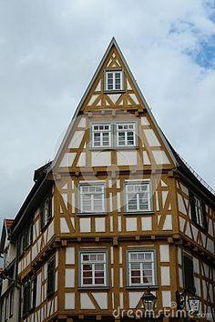 Architecture in the city Esslingen am Neckar
