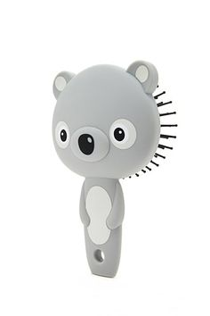 A bear-shaped paddle brush featuring protruding ears and plastic ball-tip bristles. Justice Accessories, Kawaii Accessories, Girls Accessories, Unicorn Rooms, Paddle Brush, Girl Bedroom Designs, Cute Makeup, Shop Forever, Forever 21