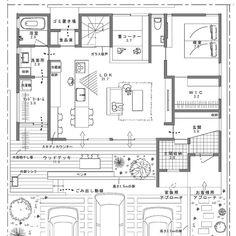 madree(マドリー)さんはInstagramを利用しています:「【 平屋風で、キッチンから見渡せる間取り。】 . . マドリーでは、 建築家さんがその方の暮らしに沿った間取りを、 ひとつひとつ作っています。 . ご依頼はプロフィールURLより😌 👉@madree.jp . . ——————————— ——————————— ————————…」 Japanese Architecture, Architecture Plan, Concept Board, Sims House, Japanese House, House Layouts, Plan Design, Laundry Room, House Plans