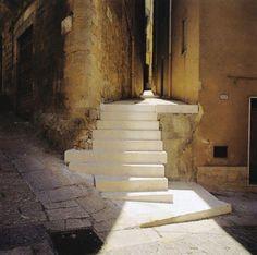 "poetryconcrete: "" Stairs, by Álvaro Siza, 1991-1998, at Salemi Historic Center, Sicilia, Italy. """
