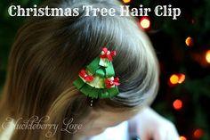 Huckleberry Love: Christmas Tree Hair Clip {Tutorial}