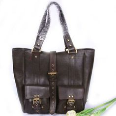 Womens Mulberry Roxanne Leather Tote Bag Dark Coffee Coupons Sale