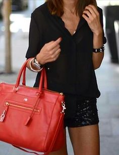 pair sequined black shorts with your Hermes... no big deal (I wish)