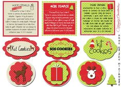 étiquettes kit SOS cookies noël