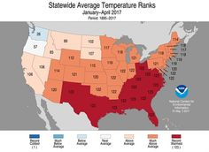 Swath of States Experiencing Hottest Year to Date