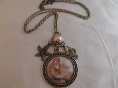 Vintage Mermaid Image Pendant Necklace Charms by AGothShop on Etsy, $18.00