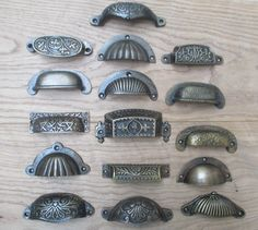 Cast Iron Shell CUP Pull Kitchen Cabinet Cupboard Drawer Door Shell Handle…