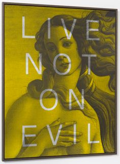 'LIVE NOT ON EVIL' | 'Palindromes Series' (2014) | 160cm x 125cm | Massimo Agostinelli