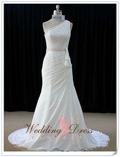 Gorgeous Chiffon Wedding Dress Single by WeddingDressFantasy
