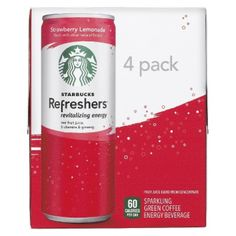 I'm learning all about Pepsi Starbucks Refresher Strawberry Lemonade 4pk 8.4oz at @Influenster! @Pepsi