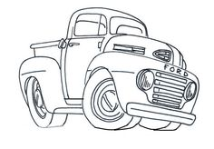 Colouring Pages Coloring Vw Beetles Trucks Bugs Printable Truck Sheets