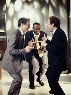 Robert Downey Jr., Taye Diggs, and Peter Macnicol channeling Barry White on Ally McBeal