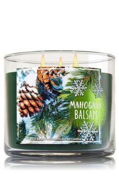 Mahogany Balsam 3-Wick Candle   - Home Fragrance 1037181 - Bath & Body Works