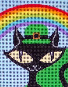 Paddy O'Paws (detail)  by EyeCandy Needleart