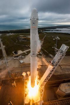SpaceX has conducted its first launch from the Kennedy Space Center since the end of the Space Shuttle program, with a Falcon 9 flying from the historic Launch Complex 39A on Sunday, ahead of delivering the CRS-10 Dragon spacecraft to orbit on a resupply mission to the International Space Station. The first stage also completed a landing at LZ-1. Photo credit: SpaceX
